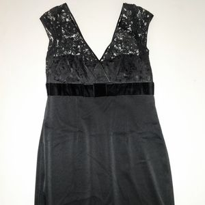 Banana Republic Black Lacy Cocktail Party Dress 16